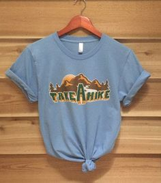Take a Hike 70s Retro Tee 70s style short sleeve tee Made in the USA Printed with water based ink to give this tee a super soft feel! **Oversized Fit