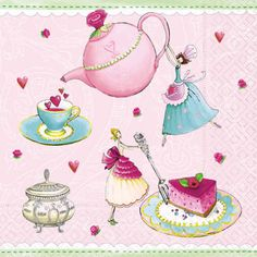Paper-design-NINA-CHEN-20-Servietten-Little-Tea-Party-Romance-Herzen
