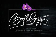 bella script + swash by joelmaker on @creativemarket - Download here: https://crmrkt.com/B62ED