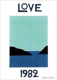 LOVE 1982 POSTER: Yves Saint Laurent Art Print - The Print Arcade