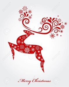 Christmas Background With Red Reindeer Royalty Free Cliparts ...