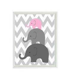 Elefant Kinderzimmer Wand Kunst Chevron Mom von RizzleandRugee