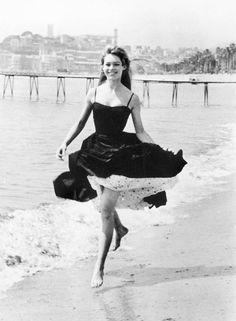 Brigitte Bardot at the Cannes Festival, 1956. (Gamma-Keystone/Getty Images)