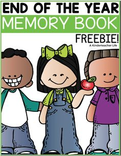 FREEBIE - End of the year memory book for kindergarten to grade! Perfect way to summarize the end of the school year! Topics include: what I learned, favorite field trip, letter from the teacher and much more! Kindergarten Art Projects, Kindergarten Graduation, Kindergarten Activities, End Of Year Activities, Teaching Activities, Teaching Ideas, Preschool Memory Book, Kindergarten Memory Books, Graduation Songs