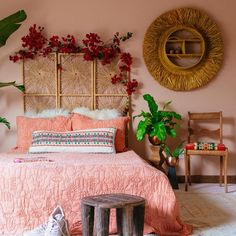 Boho Room, Boho Living Room, Room Decor Bedroom, Home Bedroom, Bedroom Ideas, Bedroom Designs, Gypsy Bedroom, Wicker Bedroom, Modern Bedroom