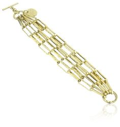 1AR by UnoAerre 18KT Gold Plated Multi-Link Bracelet