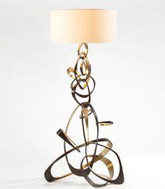 Herve Van der Straeten floor lamp - Lampadaire Voluble 362