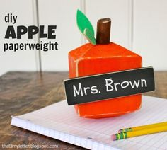 """""""A"""" is for Apple Paperweight"""