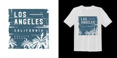 Los angeles california pacific ocean graphic tee with palm tree silhouette Palm Tree Silhouette, Los Angeles California, Pacific Ocean, Palm Trees, Graphic Tees, Typography, Vector Freepik, Vectors, Design Inspiration