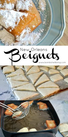 Our family has been making these beignets for special mornings for years! Our family has been making these beignets for special mornings for years! Just Desserts, Delicious Desserts, Yummy Food, New Orleans Beignets Recipe, Beignet Recipe, Recipe For Beignets, Yummy Treats, Sweet Treats, Treats