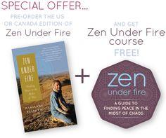 @MarianneElliott talking about her book Zen Under Fire!