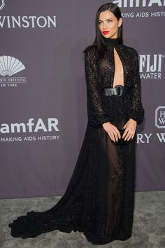 Adriana Lima attends the 19th Annual amfAR New York Gala 2017 at Cipriani Wall Street.