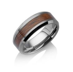 "Tungstino ring ""Rosewood"" tungsten carbide"