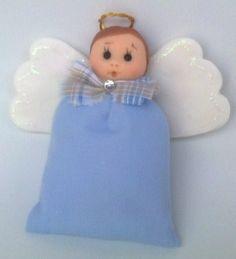 Lembrancinhas infantil nascimento ou batizado. sache perfumado. Ateliê Dagmar Cavalheiro