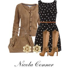 A fashion look from January 2013 featuring Dorothy Perkins dresses, Fat Face cardigans and Zigi Soho boots. Browse and shop related looks.