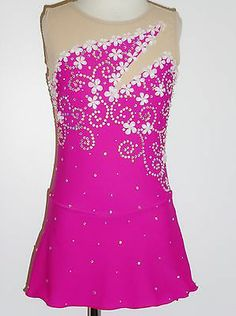 Beading Ideas for Competition Dress.  I like the swirls with the scattered rhinestones.  I would leave out the flowers.