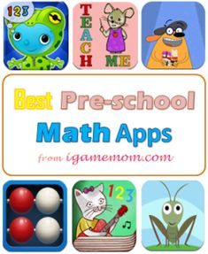 You just got a new iPad, where to find good apps for kids? - Best Preschool Math Apps from iGameMom #kidsapps #MathApps