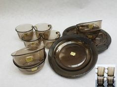 Eveyone had these smoked glass dinner sets Those Were The Days, The Good Old Days, 90s Childhood, Childhood Memories, When You Were Young, Dinner Sets, Teenage Years, My Memory, Personalized Baby