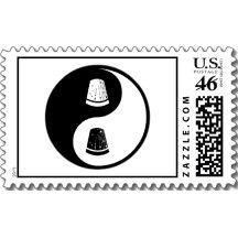 Yin Yang Sewing Postage Stamps