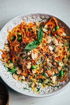 sweet potato noodles w/ creamy chipotle miso sauce
