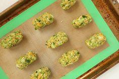 Cheesy Green Giant Broccoli Tot Bites - Kitchen Divas Broccoli Bites, Broccoli And Cheese, Veggie Tots Recipe, Healthy Veggie Snacks, Pumpkin Delight Dessert Recipe, Green Giant Veggie Tots, Best Dip Ever