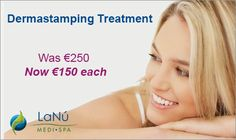 Dermastamping harnesses the skin-tightening effect with growth factor-rich concentrated serums, which dramatically improve your skins complexion by stimulating skin cells to repair damage. It is a highly effective treatment for skin tightening, wrinkle reduction and acne scars by visibly repairing collagen. Check out our revised #Dermastamping Treatment price at Lanu Medi Spa Drogheda. Wrinkle Treatment, Anti Aging Treatments, Vein Removal, Growth Factor, Warts, Rosacea, Skin Tightening, Acne Scars, Cellulite