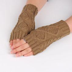 NEW Fashion Winter Women Fingerless Gloves Knitted Mitten short Half-finger Gloves Christmas Women's Accessories Drop shipping
