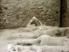 Bodies in Pompeii
