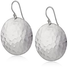 Sterling Silver Hammered Disc Drop Earrings * See this great product. (This is an Amazon Affiliate link and I receive a commission for the sales)
