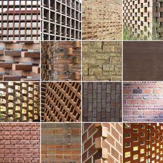 16 Detalhes construtivos de aparelhamento de tijolos,