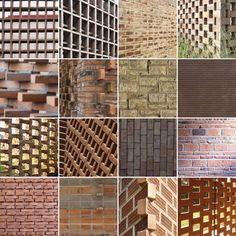 16 Detalles constructivos de aparejo de ladrillos,