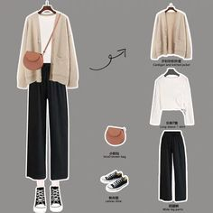 Korean Girl Fashion, Korean Fashion Trends, Korean Street Fashion, Ulzzang Fashion, Look Fashion, Korean Casual Outfits, Korean Outfit Street Styles, Retro Outfits, Cute Casual Outfits