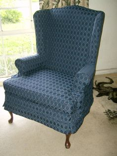 """Traditional Wingback Slipcover by """"Chici's Cottage Style"""""""