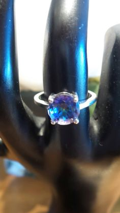 Mystic Topaz Sterling Silver ring, size 7 by FierStaarGems on Etsy