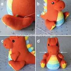 Free pattern & tutorial to sew sock dragon with 2 pairs of socks. This sock dragon has small arms, big foot, a pair of bat wings & a spiky back. – Page 2 of 2 Baby Boy Knitting Patterns, Animal Sewing Patterns, Sewing Patterns Free, Free Sewing, Free Pattern, Bear Patterns, Pattern Sewing, Doll Patterns, Sewing Toys