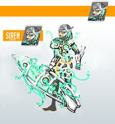 Overwatch concept hero Siren(Sirena). Overwatch, Comic Books, Concept, Comics, Cover, Projects, Character, Art, Log Projects