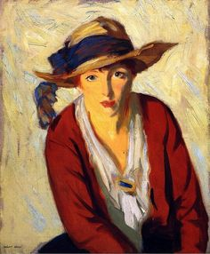 The Beach Hat - Robert Henri - 1914