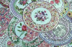Image result for   mosaic plate