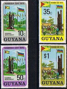 Guyana 1975 Namibia Day Set Fine Mint SG 635 - 638 Scott 222 - 225 Condition Fine LMM Only one post charge applied on multiple purchases Details