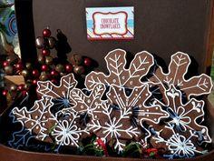 Chocolate Snowflake Cookies #snowflake #cookies