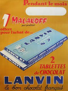 Artist Unknown poster: Lanvin - le bon chocolat francais