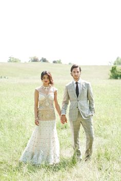 love her hair, the colors, style, pattern, especially on the skirt. Maybe a different blouse style? great mens suit and picture. Love this for the reception!