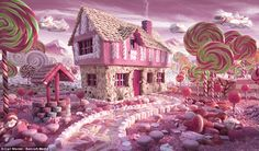 Candy Cottage: A dentist's appointment might be necessary if you ever end up staying in this house comprised of marshmallows and nougat, with giant lollipop trees