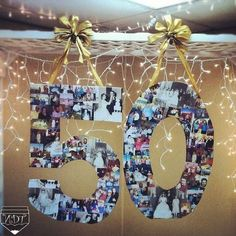 Best Wedding Anniversary Decorations Ideas For Parent . 50th Wedding Anniversary, Anniversary Parties, Anniversary Ideas, Golden Anniversary, Anniversary Gifts For Parents, Moms 50th Birthday, Festa Party, 50th Birthday Party, Diy 50th Birthday Decorations