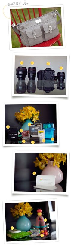 What's in photographer Sara Seeton's bag and office?