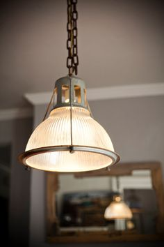 Vintage Holophane Lobay industrial light fixture (want so badly!)