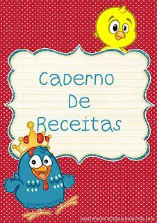 Capas Caderno de Receitas da Galinha Pintadinha