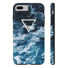Blank & Blue Waves Icon Phone Case - Tough (iPhone & Samsung)