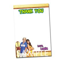 Teen Beach Movie Thank You Card  Printable by KidsPartyPrintables, $4.99