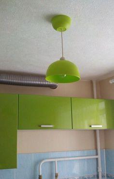 Удивительно простая и дешевая люстра на кухню